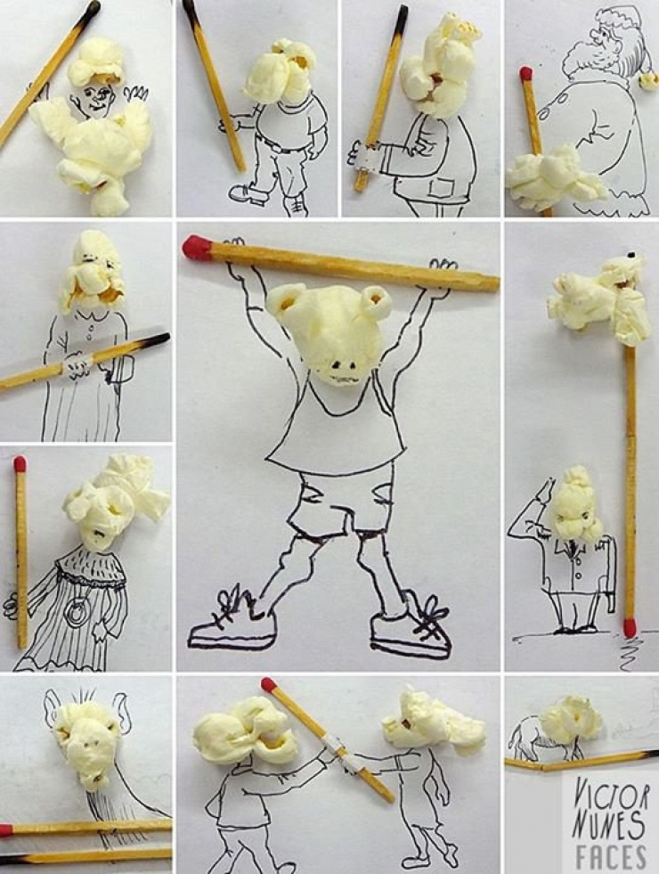 Ce qu'il fait avec les objets du quotidien va vous amuser !