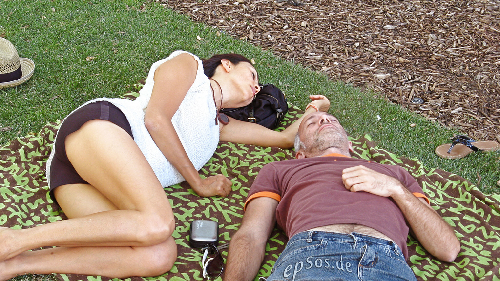 couple sleeping photo