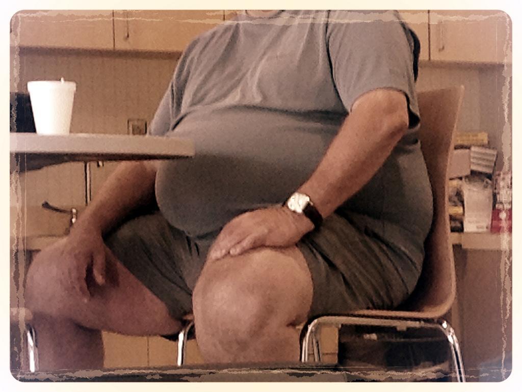 big belly guy photo