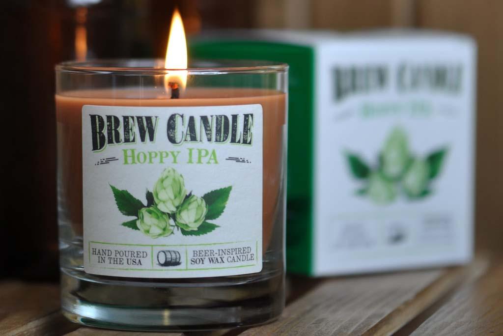 Des bougies parfumées à la bière ? Non ce n'est pas une blague !