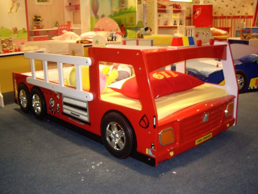 le lit d'un fans de pompiers