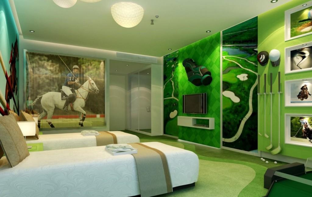la chambre d'un amateur de polo