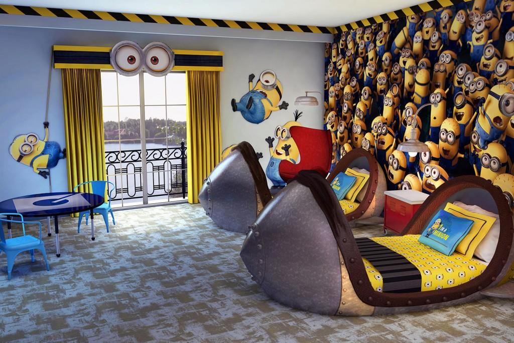 le lit pour les fanas des Minions
