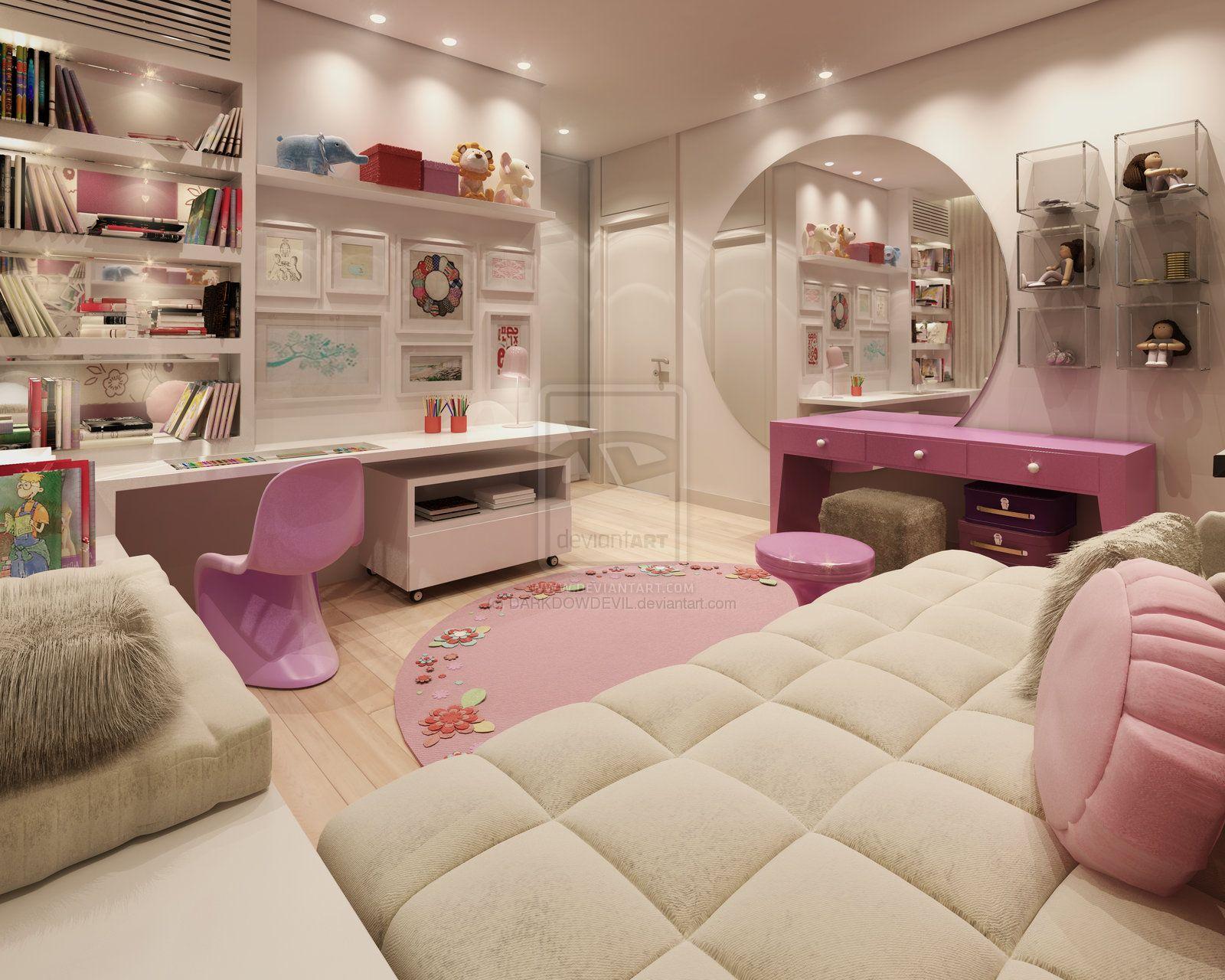 la chambre de rêve pour les petites filles devenues grandes