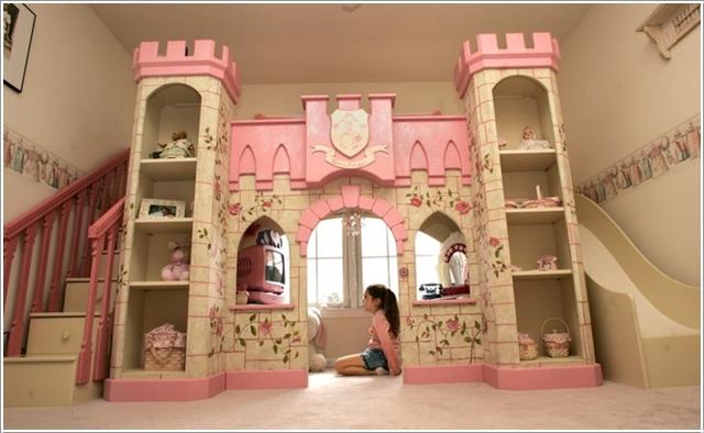 le chateau de princesse qui cache un lit