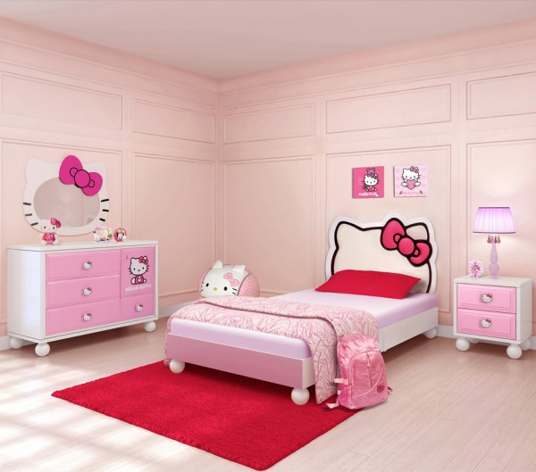 fan de Hello KItty ? voici le lit idéal