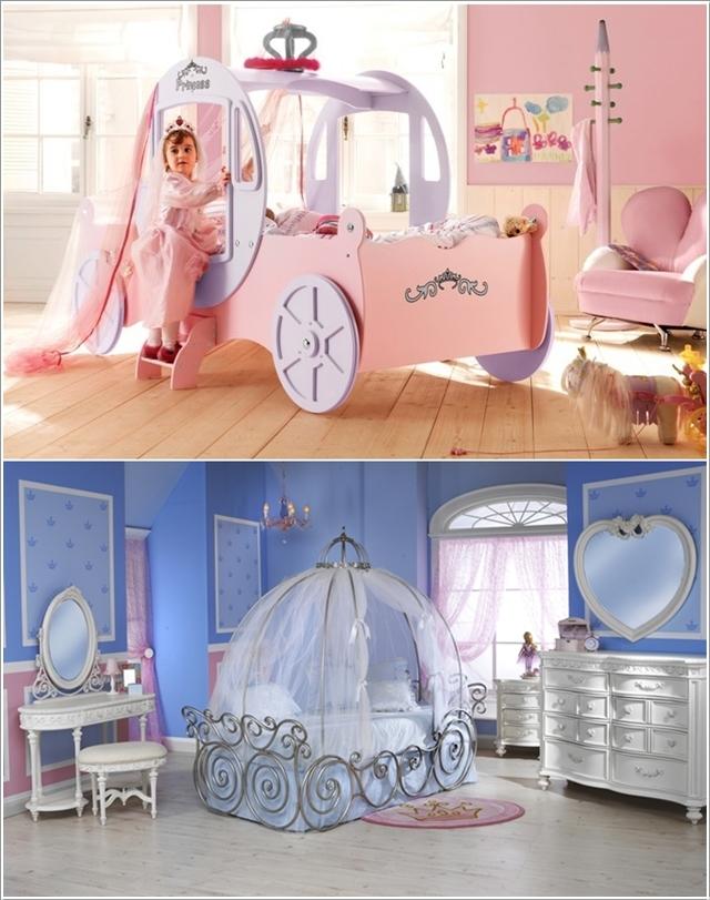 des lits carrosses pour les princesses