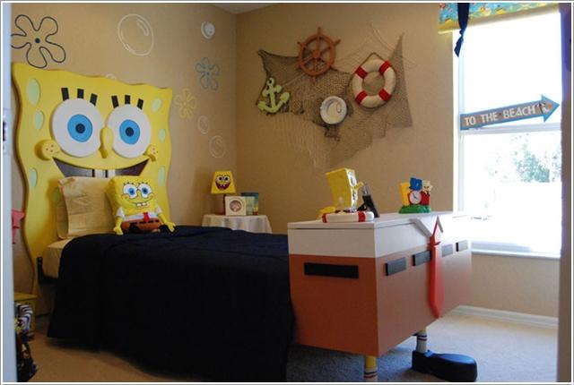 la chambre Bob l'éponge (carrée)