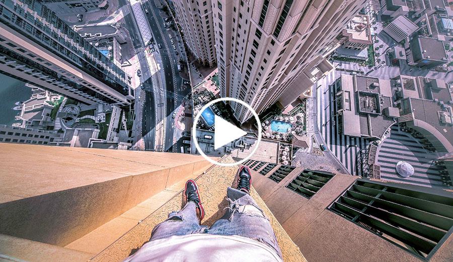 La vidéo la plus impressionnante de l'année, ne regardez pas si vous avez le vertige !