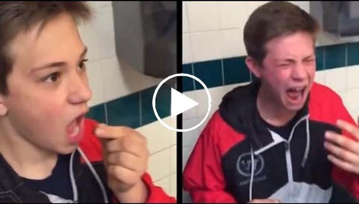 Il avale un piment Ghost Pepper et le regrète immédiatement !