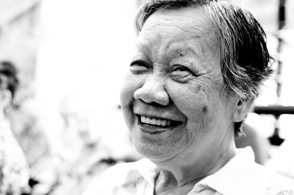 old lady smile photo